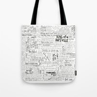 my mad fat diary Tote Bags featuring Dear Diary... by girlinplaits