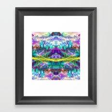 Crystal Mountains One Framed Art Print