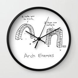 Arch Enemies Wall Clock
