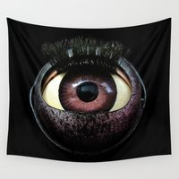 cyclops Wall Tapestries featuring The Mind's Eye  by Factory23