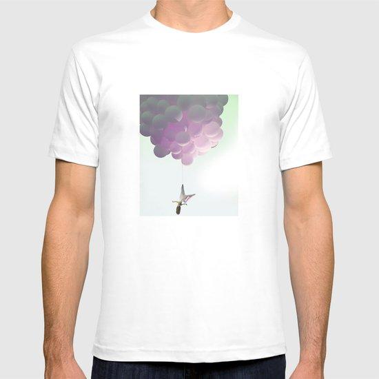 by a thread_ ballon girl T-shirt