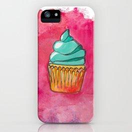 Watercolor Cupcake iPhone Case