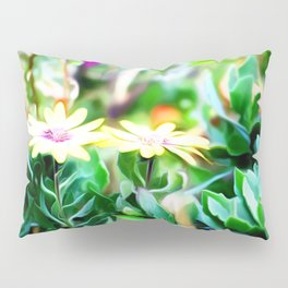 Yellow Flower Art Pillow Sham