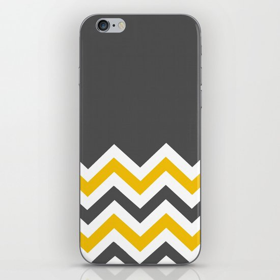Color Blocked Chevron 14 iPhone & iPod Skin