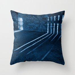Gloomy Lockhouse Basement Throw Pillow