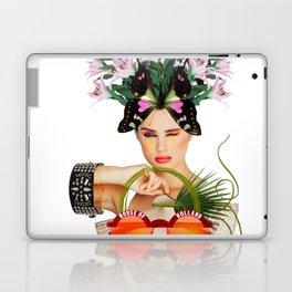 Orange Sunglasses by Lenka Laskoradova Laptop & iPad Skin