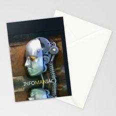 E-Man - people, robot, cyborg, mask,face, pop art Stationery Cards