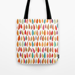 Mid-Century Modern Leaves Pattern Collection 1 Tote Bag