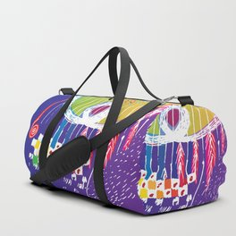 red feathers Duffle Bag