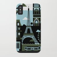 paris iPhone & iPod Cases featuring Paris by koivo