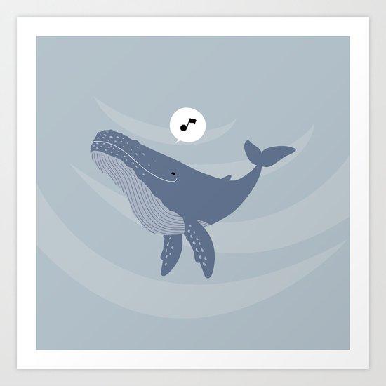 Humming Whale Art Print