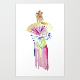 Fan Dancer Art Print