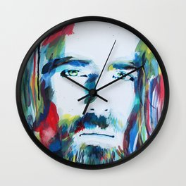 Colorful Creator Jesus Christ Painting Wall Clock