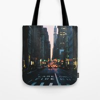 broadway Tote Bags featuring Broadway by cascam