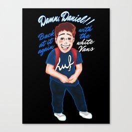 Damn Daniel Cool Cartoon Canvas Print