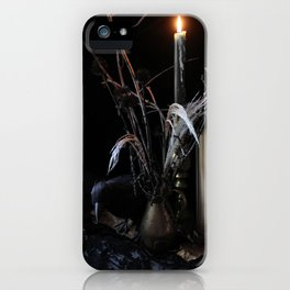 The Raven and the Departed Bouquet iPhone Case