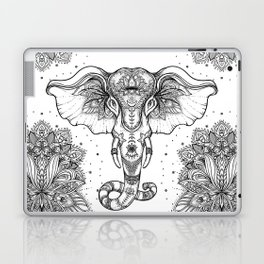 Beautiful hand-drawn tribal style elephant Laptop & iPad Skin