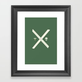 Mulder and Scully (green) Framed Art Print
