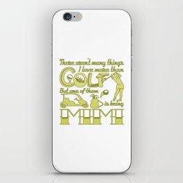 Golf Mimi iPhone Skin