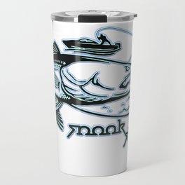 Snook Slayer Outdoors Fishing Design Travel Mug