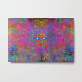 Cotton Candy Woman (abstract) Metal Print