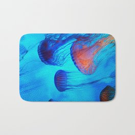 Watch the Flow of the Jelly Glow  Bath Mat