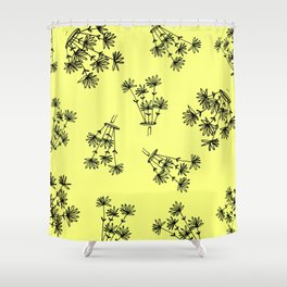 yellow flower eaters Shower Curtain