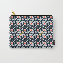 Round Pegs Square Pegs Navy Blue Carry-All Pouch