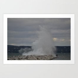 Lighthouse and Breakwall Sequence 2 Art Print