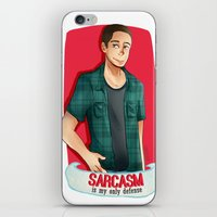 sarcasm iPhone & iPod Skins featuring Sarcasm by IanPinkis