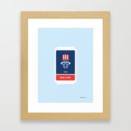 North New York Baseball Ticket (11 of 30) Framed Art Print