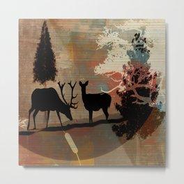 Woodland Abstract Metal Print