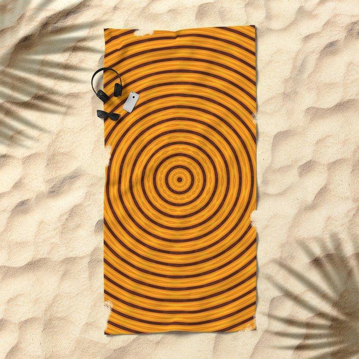 Circles within - Orange Beach Towel