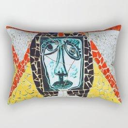 Mosaic of Cuban Lady Rectangular Pillow