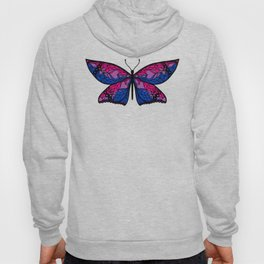 Fly With Pride: Bisexual Flag Butterfly Hoody
