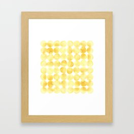 Imperfect Geometry Yellow Circles Framed Art Print