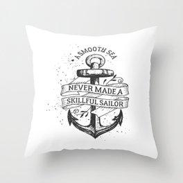 A smooth sea Throw Pillow