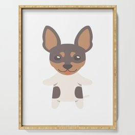 Toy Fox Terrier Gift Idea Serving Tray