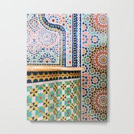 chicago mosaic Metal Print