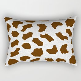 Brown Cow Spots Pattern Rectangular Pillow