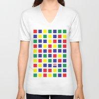 waldo V-neck T-shirts featuring Square's Waldo by Jonah Makes Artstuff