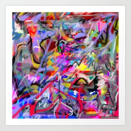 Wanting and liking (abstract painting) Art Print