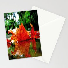 Fallen leaf Stationery Cards