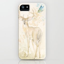 Deer and butterfly iPhone Case