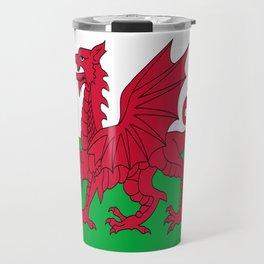 Flag of Wales,uk,great britain,dragon,cymru, welsh,celtic,cymry,cardiff,new port Travel Mug
