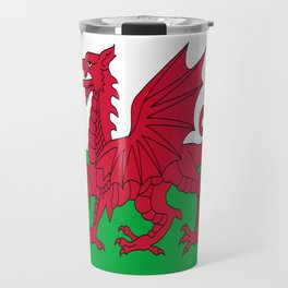 Flag of Wales,uk,great britain,dragon,cymru, welsh,celtic,cymry,cardiff,new port Travel Mug