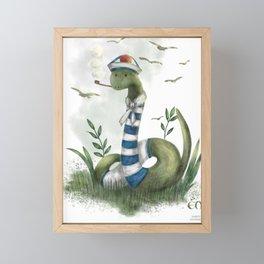 the marin snake Framed Mini Art Print