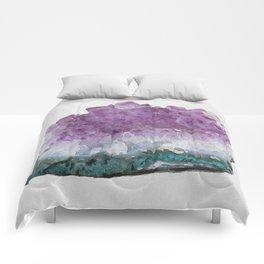 Watercolor Amethyst Comforters