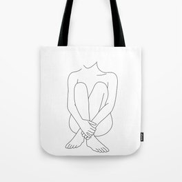 Nude figure line drawing - Mimi Tote Bag