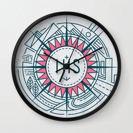Jesuit Christian IHS symbol Wall Clock